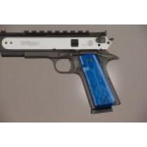 1911 Govt. Model 9/32 Thick Flames Aluminum - Blue Anodized