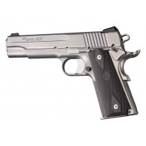 1911 Govt. Model: Checkered Rubber Grip Panels with Diamonds - Pewter