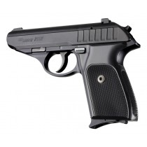 SIG Sauer P230 P232 Checkered Aluminum - Brushed Gloss Black Anodize