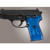 SIG Sauer P239 Flames Aluminum - Blue Anodize