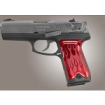 Ruger P94 Flames Aluminum - Red Anodize