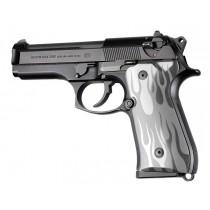 Beretta 92FS Flames Aluminum - Clear Anodize
