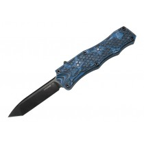 "Out The Front 3.5"" Automatic Tanto Blade Black Finish G10 Frame - G-Mascus Blue 24 pcs"