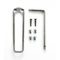 EX-02 Flat Wireframe Pocket Clip & Torx Screw Kit - Tumbled Finish