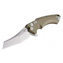 "X5 4"" Folder CPM154 Wharncliffe Blade Tumbled Finish - Flat Dark Earth Aluminum Frame"