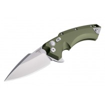 "X5 4"" Folder CPM154 Spear Point Blade Tumbled Finish - OD Green Aluminum Frame"