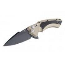 """X5 3.5"""" Folder CPM154 Spear Point Blade Black Finish - Desert Sand Cerakote Aluminum Frame Solid Black G10 Insert"""