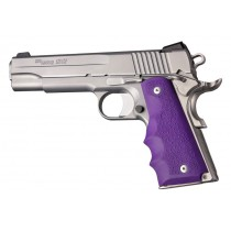 1911 Govt. Model: Cobblestone Rubber Grip with Finger Grooves - Purple