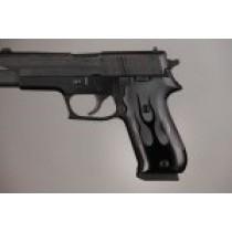 SIG Sauer P220 DA/SA American Flames Aluminum - Black Anodize
