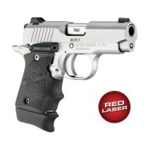Red Laser Enhanced Grip for Kimber Micro 9: OverMolded Rubber - Black