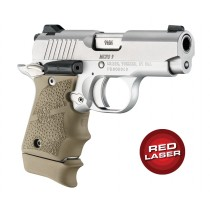 Red Laser Enhanced Grip for Kimber Micro 9: Cobblestone Rubber - FDE