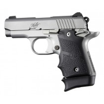 Kimber Micro 9 (Ambi Safety): Black Rubber Grip with Finger Grooves