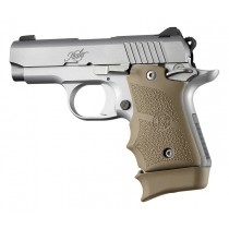 Kimber Micro 9 (Ambi Safety): FDE Rubber Grip with Finger Grooves
