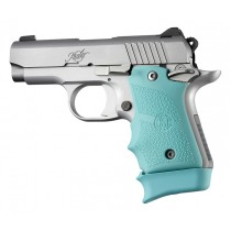 Kimber Micro 9 (Ambi Safety): Aqua Rubber Grip with Finger Grooves