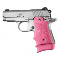Kimber Micro 9 (Ambi Safety): Pink Rubber Grip with Finger Grooves