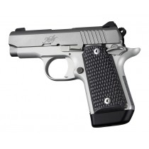 Kimber Micro 9 (Ambi Safety): Solid Black Piranha G10