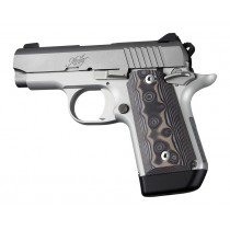 Kimber Micro 9 (Ambi Safety): Black/Grey Smooth G-Mascus G10