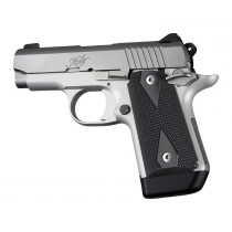 Kimber Micro 9 (Ambi Safety): Solid Black Checkered G10