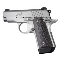 Kimber Micro .380: Smooth G10 Grip Panels (Ambi Safety) - G-Mascus Black/Grey