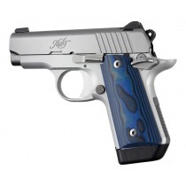 Kimber Micro .380: Smooth G10 Grip Panels (Ambi Safety) - G-Mascus Blue Lava