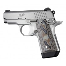 Kimber Micro .380: Smooth G10 Grip Panels (Ambi Safety) - G-Mascus Dark Earth