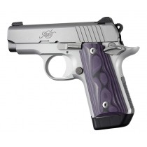 Kimber Micro .380: Smooth G10 Grip Panels (Ambi Safety) - G-Mascus Purple Lava