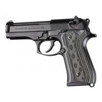 Beretta 92FS Checkered G10 - G-Mascus Black/Gray