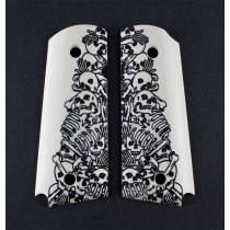 1911 Officers Model Engraved Ivory Polymer - Boneyard