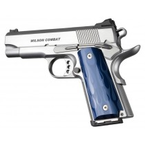 1911 Officers Model Flames Aluminum - Blue Anodized