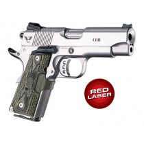 Laser Enhanced Grip Red Laser - Officers Model 1911 Piranha Grip G10 - G-Mascus Green