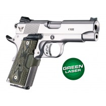 Laser Enhanced Grip Green Laser - Officers Model 1911 Piranha Grip G10 - G-Mascus Green
