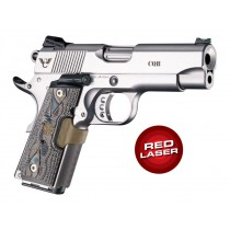 Laser Enhanced Grip Red Laser - Officers Model 1911 Piranha Grip G10 - G-Mascus Dark Earth