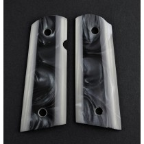 1911 Officers Model Black Pearlized-Polymer S&A Mag.-Well, Ambi. Cut