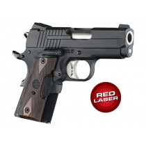 Laser Enhanced Grip Red Laser - Officers Model 1911 Reinforced Walnut Checkered