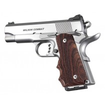 1911 Officers Model Kingwood With Finger Grooves Checkered