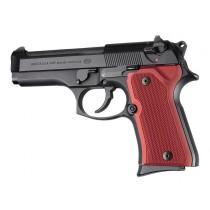 Beretta 92 Compact Checkered Aluminum - Matte Red Anodize