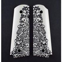 1911 Govt. Model Engraved Ivory Polymer - Boneyard