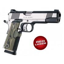 Red Laser Enhanced Grip for 1911 Govt. Model: Piranha G-Mascus G10 - Green