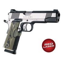 Red Laser Enhanced Grip for 1911 Govt. Model: Piranha G10 - G-Mascus Green