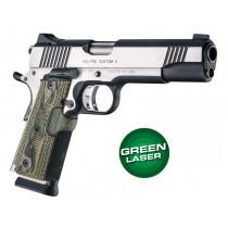 Laser Enhanced Grip Green Laser - Govt. Model 1911 Piranha Grip G10 - G-Mascus Green