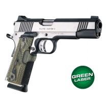Green Laser Enhanced Grip for 1911 Govt. Model: Piranha G10 - G-Mascus Green