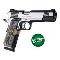 Laser Enhanced Grip Green Laser - Govt. Model 1911 Piranha Grip G10 - G-Mascus Dark Earth