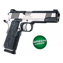 Laser Enhanced Grip Green Laser - Govt. Model 1911 Piranha Grip G10 - G-Mascus Black