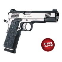 Red Laser Enhanced Grip for 1911 Govt. Model: Piranha G10 - G-Mascus Black
