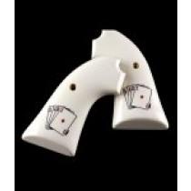 Ruger Bisley Scrimshaw Ivory Polymer - Double Aces