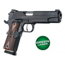 Laser Enhanced Grip Green Laser - Govt. Model 1911 Reinforced Walnut Checkered