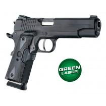 Laser Enhanced Grip Green Laser - Govt. Model 1911 Reinforced Blackwood Checkered
