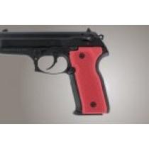 Beretta Cougar 8045 Checkered Aluminum - Matte Red Anodize