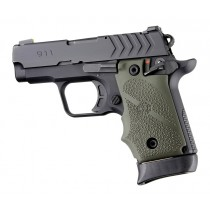 Springfield Armory 911 .380: Cobblestone Rubber Grip with Finger Grooves (Ambi Safety) - OD Green