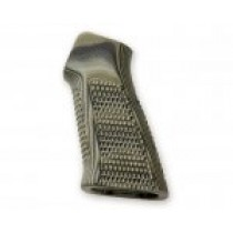 AR15 / M16 No Finger Groove Piranha Grip G10 - G-Mascus Green